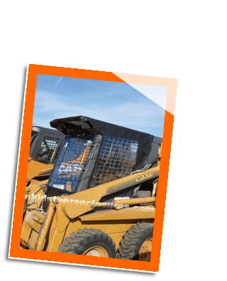 Case 1845C Skidsteer Cab Enclosure