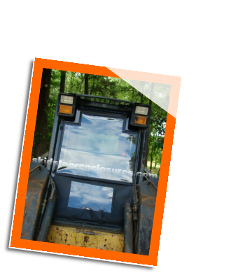 New Holland L150 (Mfg. BEFORE 2008) Skidsteer Cab Enclosure